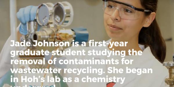 Former MARC Scholar Jade Johnson Featured on SDSU NewsCenter